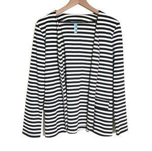 Francesa's jersey black striped cardigan blazer